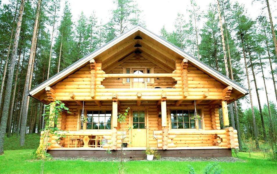 дом из оцелендрованного бревна